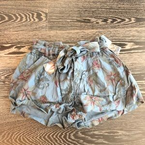 NEW free people patterned shorts